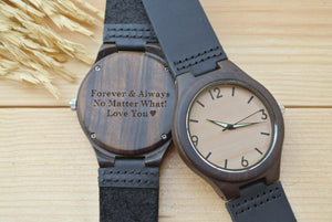 Mens Wood Watch Engraved | Anniversary Gift for Boyfriend