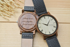 Mens Wood Watch Engraved | 1st Anniversary Gift