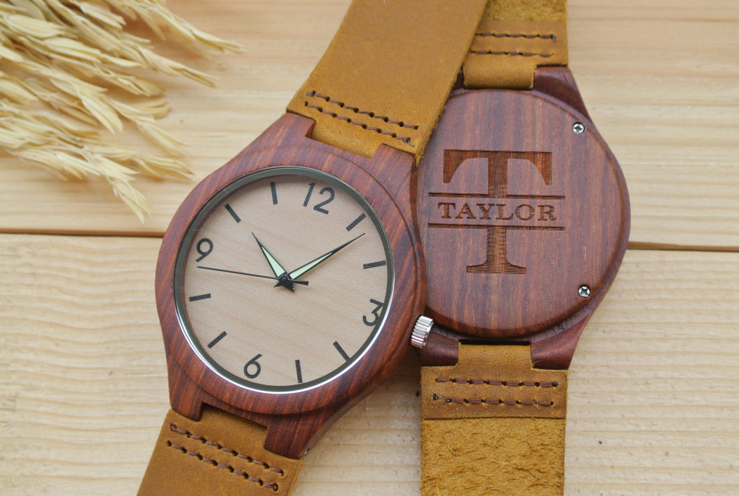 Personalized Engraved Wood Watches for Men | Gift for Men