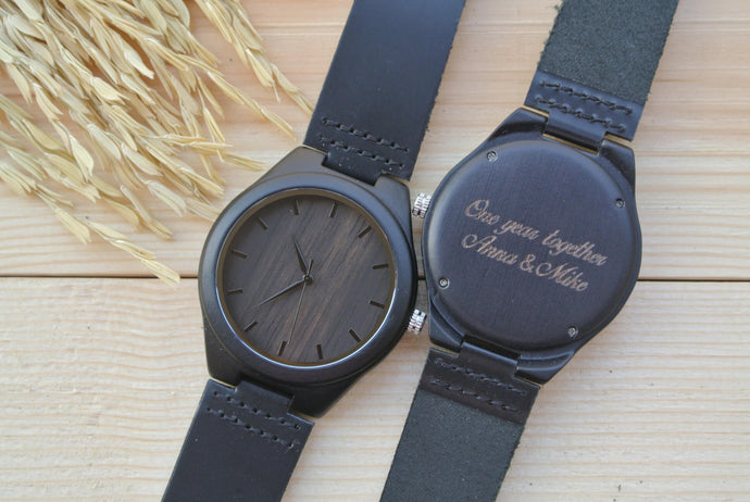 Ebony [Hours] | Wooden Watches - WL4405