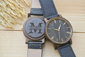 Personalized Engraved Wooden Watches for Men | Mens Gift
