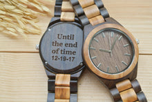 Mens Wooden Watch Engraved | Gifts for Husband