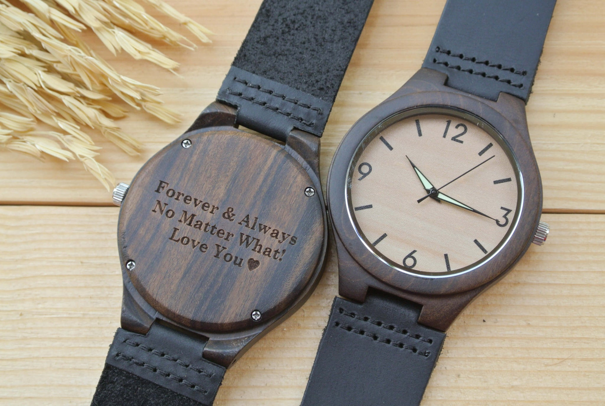 watch gifts mens woodchronos wooden engraved personalized husband watches engraving