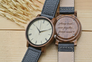 Mens Wooden Watches Engraved | 1st Anniversary Gift