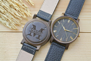 Personalized Engraved Wood Watch for Men | Mens Gift