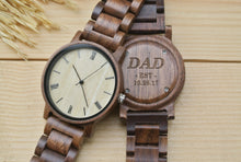 Personalized Mens Wooden Watches Engraved | New Dad Gifts