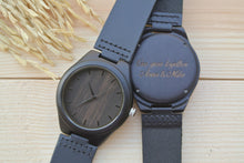 Ebony wood watch [Hours] | WL4405