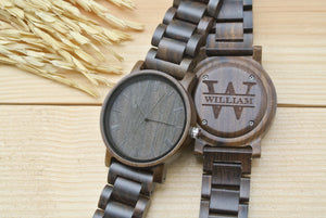 Personalized Engraved Wooden Watches for men | Gifts for Dad