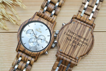 Chronograph All Zebrawood (Silver) - WW4495 | WoodChroNos