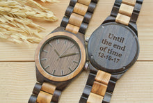 Mens Wood Watches Engraved | Gifts for Husband
