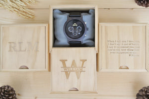 Box of Chronograph Dark Sandalwood (Black) - WL4491