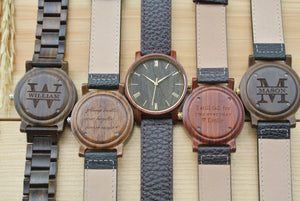 Engraved Wood Watches for Men | Husband Birthday
