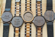 Mens Wooden Watches Engraved | Gifts for Husband