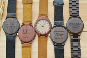 Engraved Wooden Watches for Men | Gift for Men