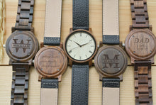 Mens Wood Watches Engraved | 1st Anniversary Gift