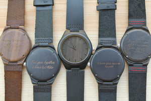 Ebony [Hours] | Engraved wooden watch