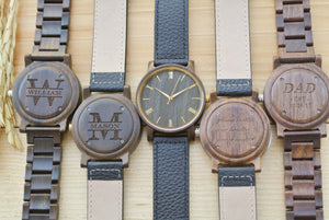 Personalized Engraved Wood Watches for Men | Mens Gift