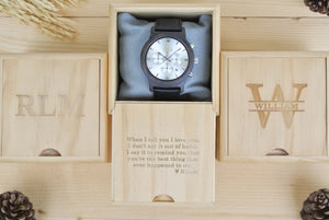 Box of Chronograph Dark Sandalwood (Silver) - WL4492