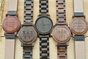 Personalized Engraved Wood Watches for men | Gifts for Dad