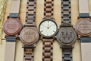 Personalized Mens Wood Watches Engraved | New Dad Gifts