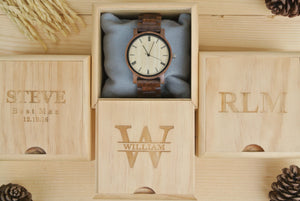 Box for Personalized Mens Wooden Watch Engraved | New Dad Gifts
