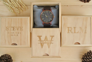 Box for Engraved Wooden Watches for Men | Husband Birthday