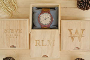 Box for Engraved Wood Watches for Men | Gift for Men