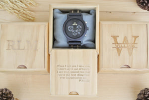 Box of Chronograph All Dark Sandalwood (Black) - WW4491