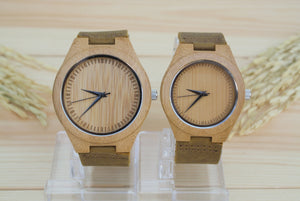 Couples Bamboo Wooden Watches | Couples Gift