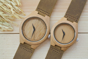 Couples Bamboo Wood Watches | Couples Gift