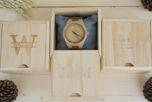 Box of Couples Bamboo Wooden Watches | Couples Gift