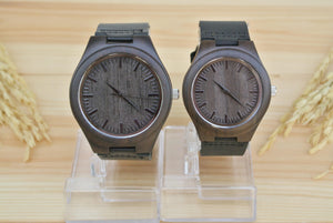 Couples Wooden Watches Engraved | Wedding Anniversary Gifts