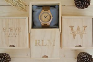 Style Wooden watches engraving and Wooden box engraving