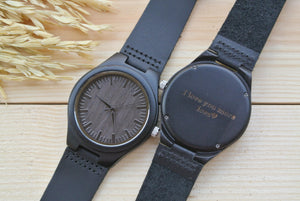 Engraved Wooden Watch for Men | Boyfriend Gift