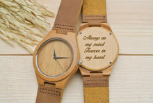 Engraved Wooden Watch for Men | Anniversary Gift