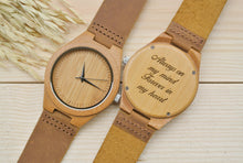 Engraved Wooden Watches for Men | Anniversary Gift