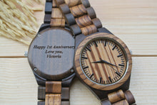 Engraved Wooden Watch for Men | Anniversary Gifts for Men
