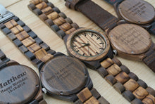 Engraved Wood Watch for Men | Anniversary Gifts for Men