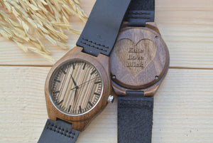 Mens Wood Watch Engraved | Unique Gifts for Men