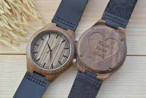 Mens Wood Watches Engraved | Unique Gifts for Men