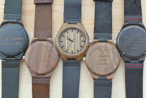 Mens Wooden Watches Engraved | Unique Gifts for Men