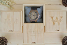 Box of Mens Wood Watches Engraved | Unique Gifts for Men