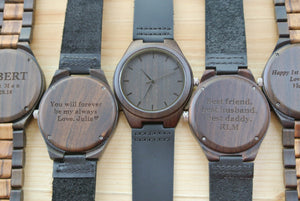 Mens Wooden Watches Engraved | Wedding Anniversary Gift
