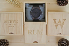 Box for Mens Wood Watches Engraved | Wedding Anniversary Gift