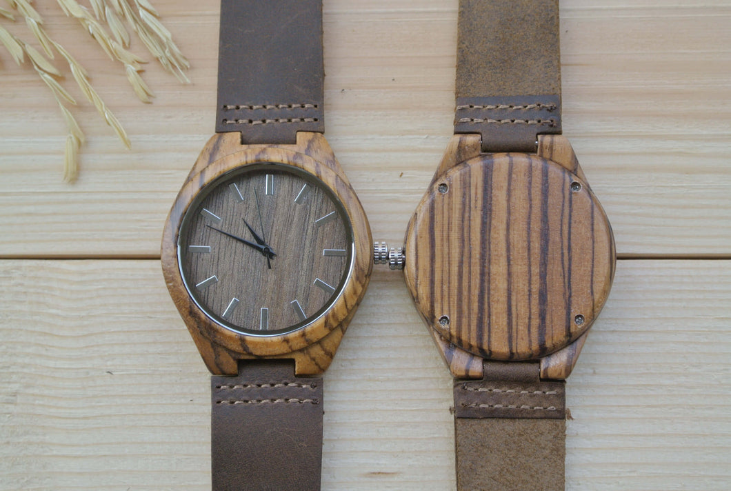 Personalized Mens Wood Watches Engraving | Watch for groom