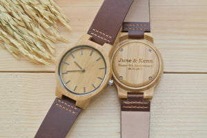 Mens Wooden Watches Engraved | 5th Anniversary Gifts
