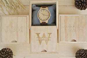 Box for Mens Wooden Watch Engraved | 5th Anniversary Gifts