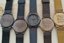 Mens Wooden Watches Engraved | Gift for Boyfriend
