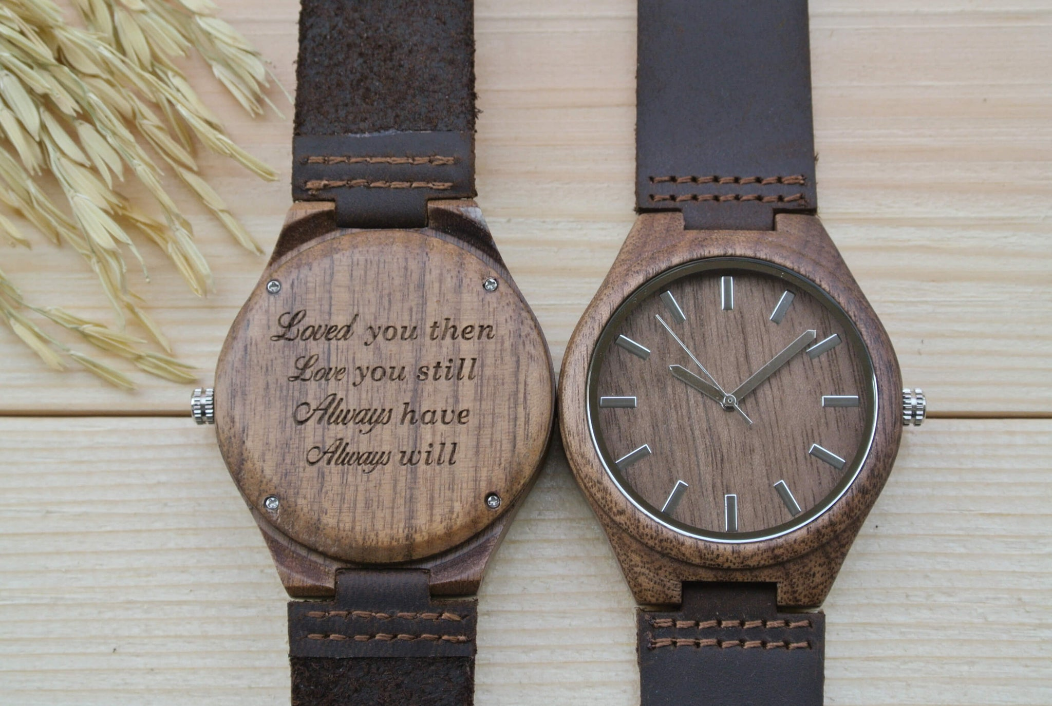 Walnut anniversary gift for him wl woodchronos