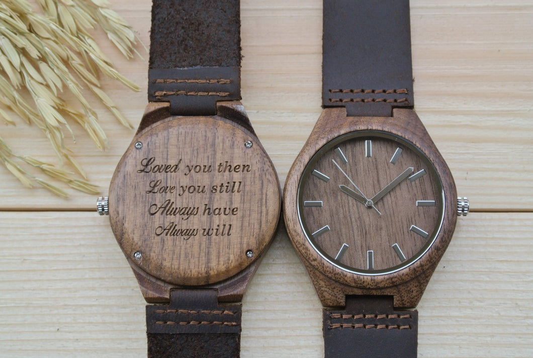 Mens Wooden Watch Engraved | Anniversary Gift for Him